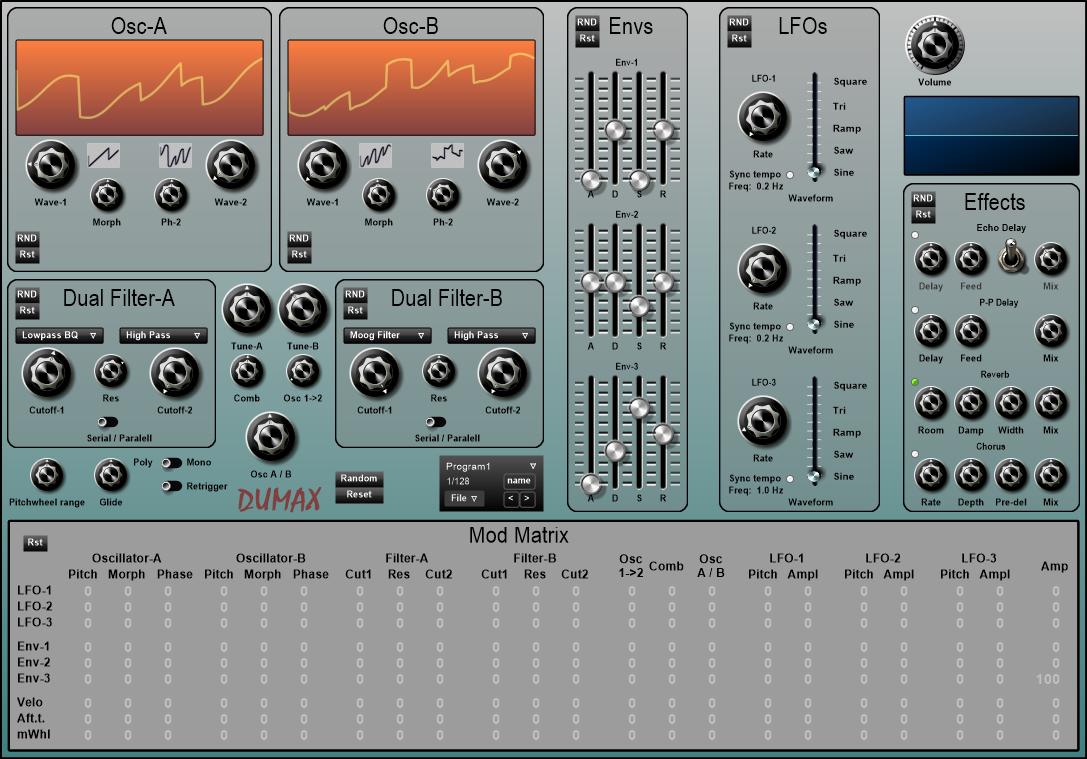 DuMax synthé virtuel gratuit